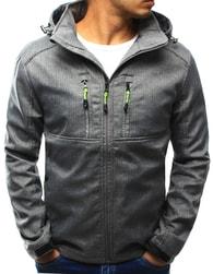 Dstreet Pánská šedá moderní bunda s kapucí