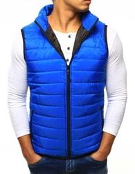 Dstreet Pánská prošívaná nebesky modrá vesta bez kapuce - XXL