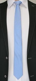 Modrá vzorovaná pánská kravata
