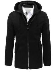 Dstreet Zajímavý módní černý kabát