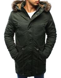 Dstreet Khaki zimní pánská moderní bunda