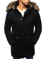 Dstreet Pánská zimní černá bunda