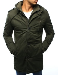 Dstreet Moderní pánská zimní khaki bunda