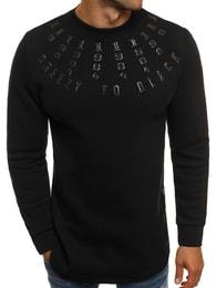 Moderní černá pánská mikina BREEZY 171589 - M