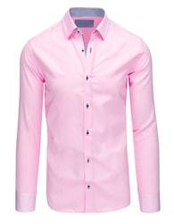 Dstreet Perfektní růžová pánská košile