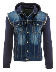 Propracovaná tmavě modrá džínová bunda