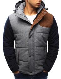 Dstreet Zimní prošívaná pánská šedá bunda