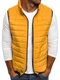 Jednoduchá žlutá vesta J.STYLE AK89 - L