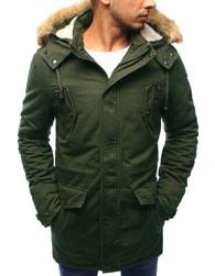 Dstreet Skvělá zelená bunda na zimu