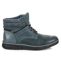 MAZARO Modré pánské teplé boty na zimu
