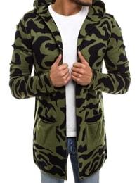 Zelený prodloužený svetr se vzorem MADMEXT 2117S - L