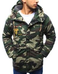Dstreet Zimní maskáčová bunda s army nášivkami