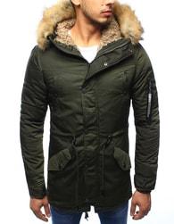 Dstreet Zimní pánská bunda v olivové barvě