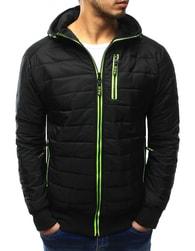 Dstreet Prošívaná černá bunda s kapucí - M