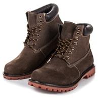 MAZARO Stylové hnědé zimní boty - 42