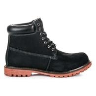 MAZARO Zimní černé pánské kožené boty