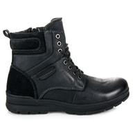 MAZARO Černé prošívané vysoké pánské boty