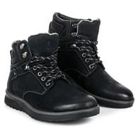 MAZARO Černé módní boty na platformě