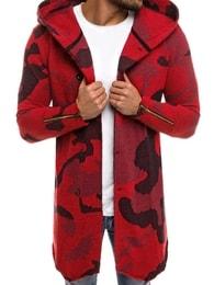 Červený maskáčový svetr MECHANICH 0918B