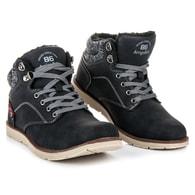 ARRIGO Módní zateplené černé pánské boty