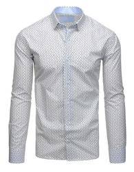 Dstreet Vzorovaná bílá košile s dlouhým rukávem