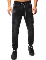 Dstreet Černé moderní jogger kalhoty - 32