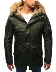 Dstreet Khaki zimní bunda s army doplňky