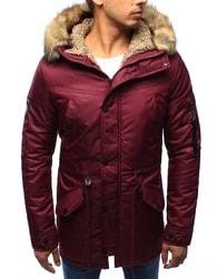 Dstreet Bordó zimní pánská bunda s army doplňky