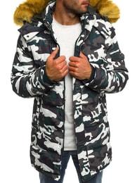 Trendy zimní pánská bunda zelená OZONEE 3160