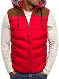 Atraktivní pánská červená vesta NATURE 4806