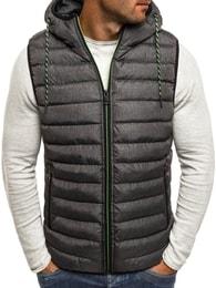 Moderní pánská tmavě šedá vesta NATURE 4805