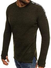 Zelený módní svetr BREEZY 9040 - L