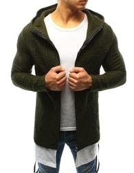 Dstreet Módní zelený svetr s podšitím - L