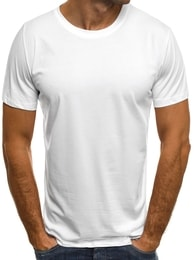 Jednoduché bílé tričko OZONEE 1957