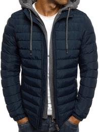Zimní trendy granátová bunda s kapucí J.BOYZ X1012K - L