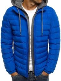 Zimní výrazná trendy pánská bunda s kapucí J.BOYZ X1012K - M