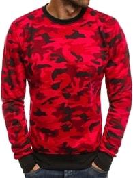 Maskáčová červená mikina J.STYLE DD129-20