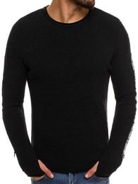 Trendy černý pánský svetr BREEZY B9042S - S