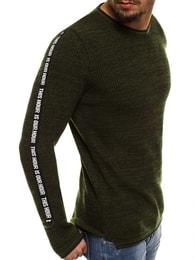Trendy zelený pánský svetr BREEZY B9042S - L