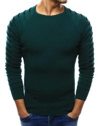 Dstreet Zelený moderní pánský svetr - L