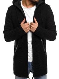 Černý svetr s kapucí BREEZY B9041S - L