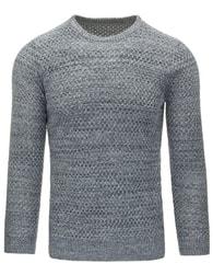 Dstreet Senzační pletený svetr šedý