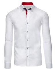 Bílá společenská prošívaná SLIM FIT košile - L
