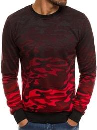 Červená mikina v maskáčovém style J.STYLE DD134-20