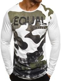Originální bílé army tričko pánské BREEZY 171335