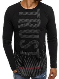Moderní černé pánské tričko BREEZY 171401 - XXL