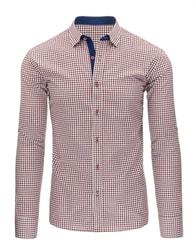 Stylová pánská červeno-granátová košile