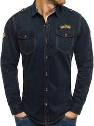 Pánská granátová riflová košile NORTH 2504