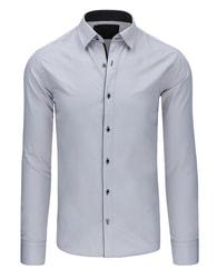 Dstreet Šedá moderní pánská košile - XL