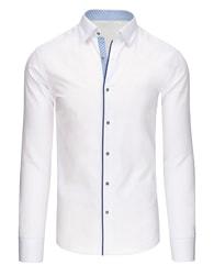 Dstreet Elegantní bílá pánská košile